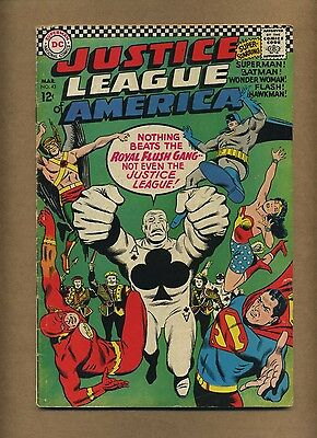 Justice League of America 43 (Solid; our G) Intro Royal Flush Gang (c#11949)