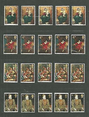 Gb Great Britain Predecimal British Paintings Multi Collection Mint Nh/vf