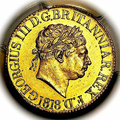 1818 King George III Great Britain London Mint Gold Sovereign PCGS AU58