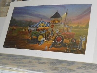 """""""For Top Honors"""" John Deere & IH Tractor Lithograph Print by David Barnhouse"""