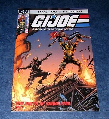 G.I. JOE #214 DEATH of SNAKE EYES part 3 1st print IDW COMIC 2015 LARRY HAMA