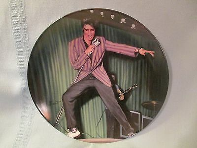 """ELVIS PRESLEY 1994 """"THE ROCKING' REBEL"""" Plate from ELVIS: YOUNG & WILD Series"""