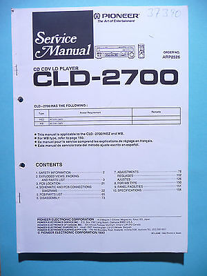 Service Manual pour Pioneer CLD-2700