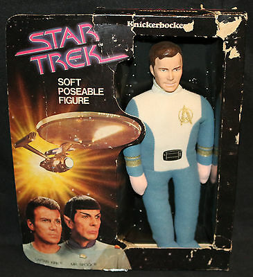 "Star Trek Captain Kirk Soft Poseable 12"" Figure by Knickerbocker - 1979"