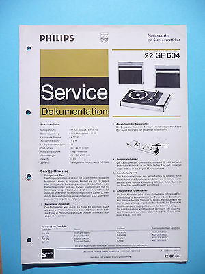 Service Manual instructions for Philips 22 GF 604 ,ORIGINAL