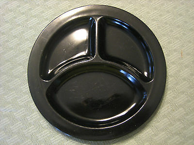 """Vintage Black Amethyst 9"""" Grill Plate by L.E. Smith"""