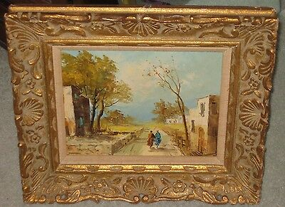 """Original Signed By Artist Oil Painting Collectible Art Framed Approx. 15""""x13"""""""