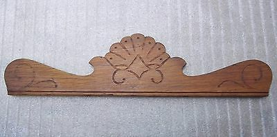 Oak  Top Crown, Gingerbread, Solid Wood Carving, Parts & Salvage, Repair 17 3/4