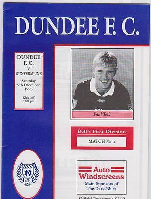 Dundee FC v Dunfermline Athletic 9/11/1995 First Division match programme