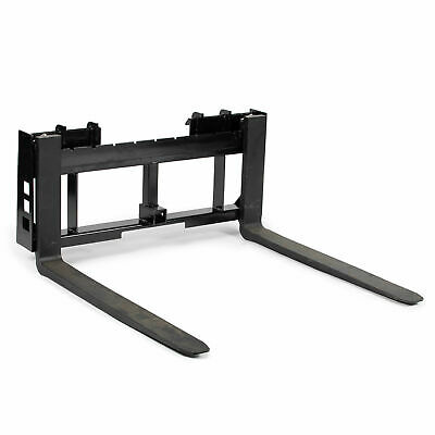 "Titan Skid Steer 48"" Pallet Fork & Trailer Hitch Attachment Bobcat Case Kubota"