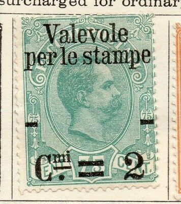 Italy 1890-91 Early Issue Fine Mint Hinged 2c. Surcharged Optd 108746