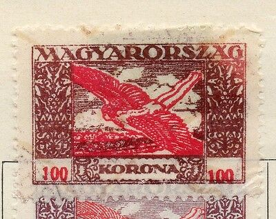 Hungary 1924 Early Issue Fine Used 100k. 108862