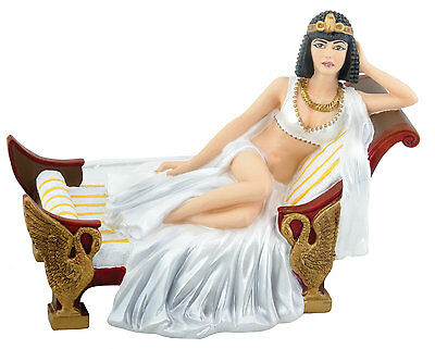 Egyptian Cleopatra Laying Down Statue Figurine