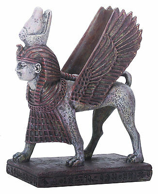 NEW Winged Egyptian Pharaoh Sphinx Collectible Statue Figurine Distplay Art