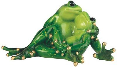 3.5 Inch Two Frogs Sitting and in Love Figurine