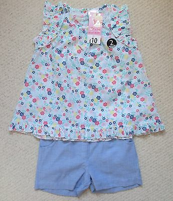Two Piece Shorts & Top Set (Size 4-5 Years)