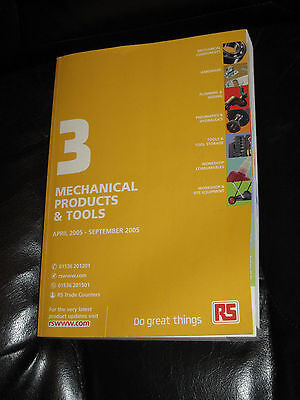 Vintage RS Components CATALOGUE 2005 UK Radio Repair Mechanical Products & Tools