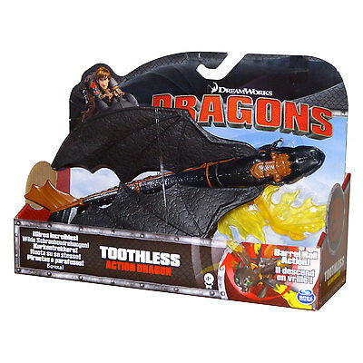 """Dreamworks Dragons - Toothless Barrel Roll 11"""" Action Dragon Figure *BRAND NEW*"""