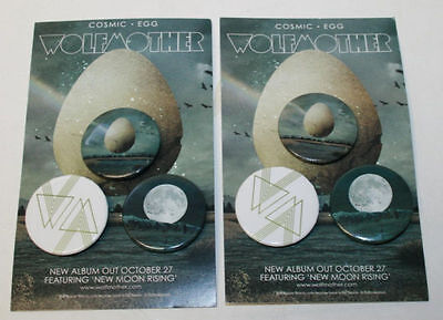 Wolfmother  - Cosmic Egg 6 Rare Promo Buttons/pins