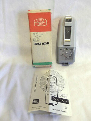 Vintage Zeiss Ikon Ikoblitz 4  20.2202 Camera Light Meter w/ Box & Instructions