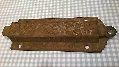 Early Victorian Cast Iron Spring Loaded Dead Bolt Door Latch Lock