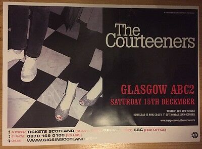 The Courteeners - Rare Gig poster, Glasgow - December 2007