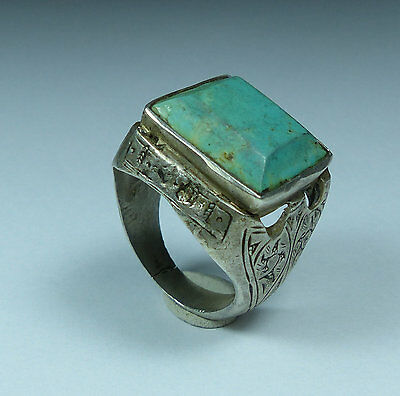 Beautiful Post Medieval Antique Silver Ring (02)