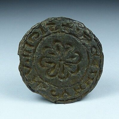 Medieval Lead Seal 13Th/14Th Century Ad