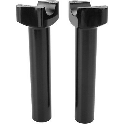 "Black 6 1/2"" Straight Risers For Harley-Davidson"