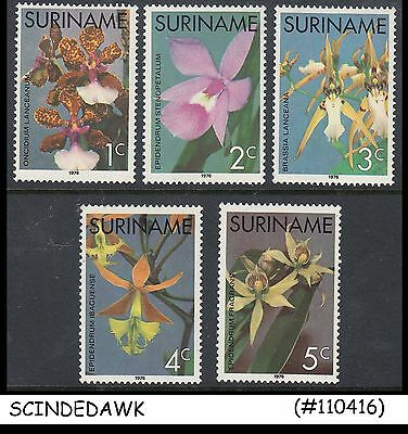 Suriname - 1976 Orchids / Flowers - 5V - Mint Nh
