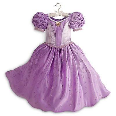 DISNEY STORE RAPUNZEL DELUXE COSTUME Girls Size 5 - 6 New With Tags TANGLED