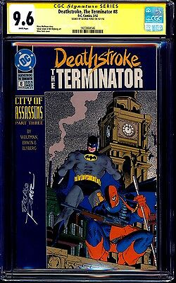 Deathstroke the Terminator #8 CGC SS 9.6 signed George Perez NM+ BATMAN ZECK