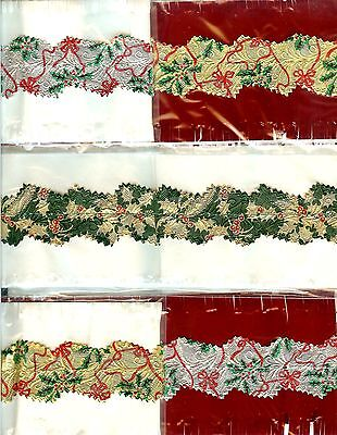 5 HOLLY DESIGN TRADITIONAL CHRISTMAS CAKE FRILLS banding FREE 1st CLASS P&P