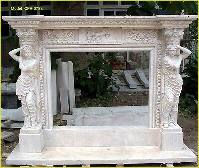 Customize your own size 100% natural marble Hand Made fireplace mantel surround