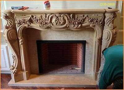 Customize Your Own NATURAL marble Unique fireplace mantel surround@PLS ASK PRICE • CAD $2,539.23