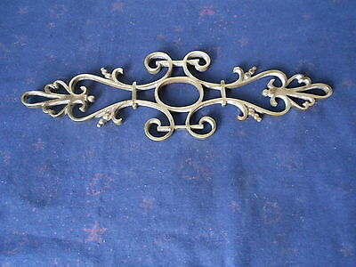 French Vintage bronze Ornate Pediment Plaque
