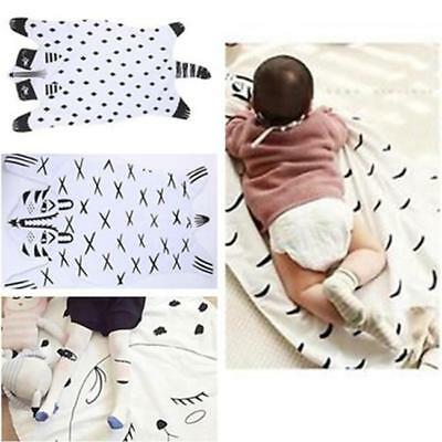 Throw Blanket Cot Crib Floor Playmat Cute Baby Shower Animal Different Gift - LD