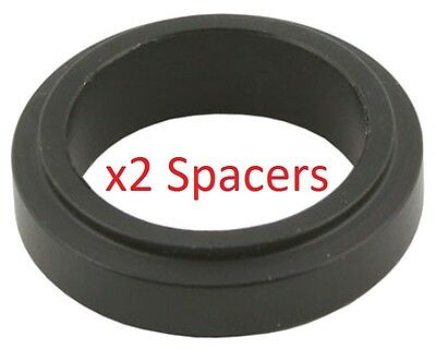 2 Black 17mm x 20mm Alloy Wheel Spacers Prokart Cadet UK KART STORE