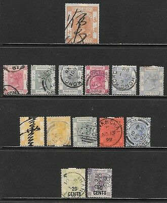HONG KONG Early Victoria Used Issues Selection - Very Nice! (Nov 0113)