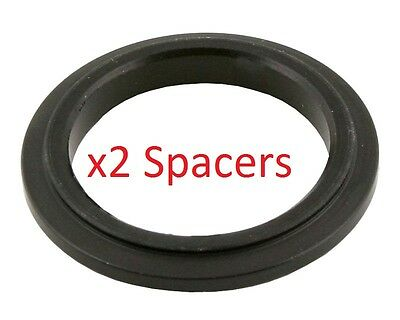 2 Black 25mm x 5mm Alloy Wheel Spacers Prokart Cadet  UK KART STORE