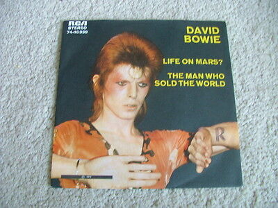 """David Bowie - Life On Mars? - Rare German 7"""" Picture Sleeve Single 74-16339  EX+"""