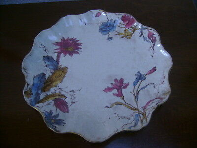 Doulton Burslem Blush Ivory Plate With A Floral Pattern