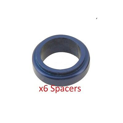6 Blue 17mm x 20mm Alloy Wheel Spacers Prokart Cadet  UK KART STORE