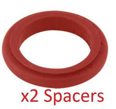 2 Red 17mm x 20mm Alloy Wheel Spacers Prokart Cadet UK KART STORE