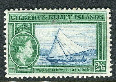 GILBERT ELLICE ISLANDS;  1938 early GVI issue Mint hinged 2s. 6d. value