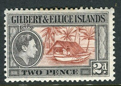 GILBERT ELLICE ISLANDS;  1938 early GVI issue Mint hinged 2d. value