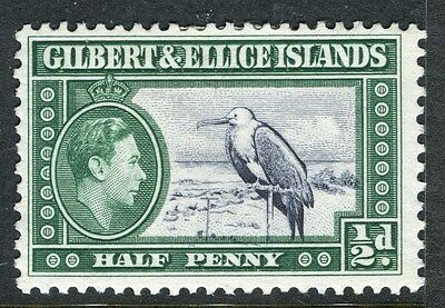 GILBERT ELLICE ISLANDS;  1938 early GVI issue Mint hinged 1/2d. value