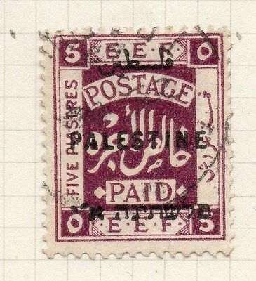 Palestine 1921 Early Issue Fine Used 5m. Optd 076035