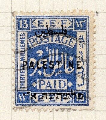 Palestine 1921 Early Issue Fine Used 13m. Optd 076032