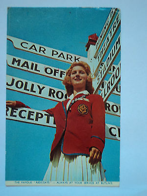 Rare Butlins Lady Redcoat - 1958